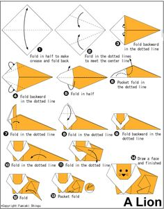 logan requested this and i realized in all 78579875 origami instruction books i've collected there wasnt one lion