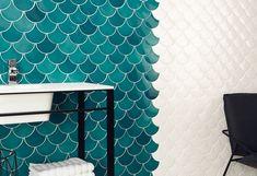 Azulejos de escamas #deco #decoración #ideatuhogar