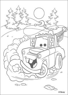 Free Printable Coloring Pages Preschoolers of cars, trucks and planes | Cars coloring pages - Mater