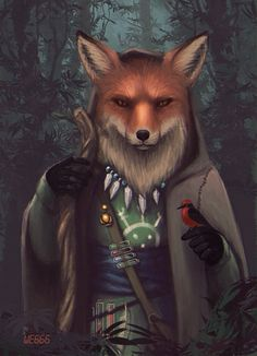 #fox #furry #fantasy #art #illustration