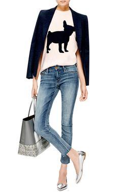 Flocked-Velvet Cotton T-Shirt by Être Cécile - Moda Operandi