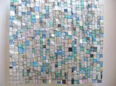 plastic shopping bags stitched together; maybe a school quilt project? Fused Plastic, Plastic Bottle Art, Plastic Art, Plastic Bag Crafts, Recycled Plastic Bags, Recycled Art, Plastic Carrier Bags, Recycling, Plastic Shopping Bags