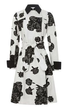 Tate Floral Jacquard Trench Coat by Tanya Taylor for Preorder on Moda Operandi