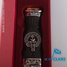 Hannay Clan Crest Sgian Dubh. Free worldwide shipping available