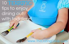 Simple (but genius) ideas to try the next time you take your toddler to a restaurant to eat. www.TheDatingDivas.com #datenight #familyfun #toddler