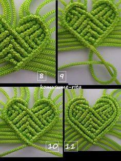 Heart-shaped knitting - Part 1 - puss handicraft