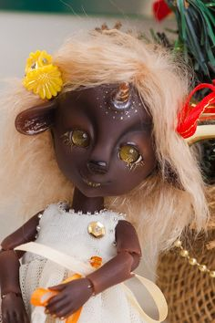 "Resin BJD doll author Unicorn ""Catarina"" 16 cm, ball jointed doll, fairy tale, Christmas by BJDSvetaDolls on Etsy https://www.etsy.com/listing/501570453/resin-bjd-doll-author-unicorn-catarina"