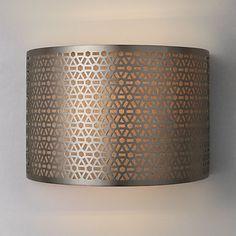 Meena Wall Light, Steel - 25cm-£45
