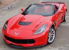 Bright red 2015 Corvette Z06 convertible 2LZ, 593 miles, NO TAX! 3 wks old Z-06