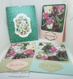 Envelope Pocket Containing 3 Cards – Christine's Crafting by Christine Bettany