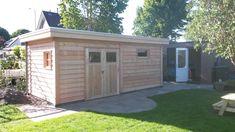 Afbeeldingsresultaat voor houten berging plat dak