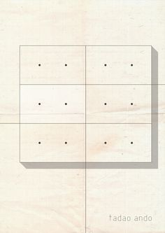 Tadao Ando by Federico Babina/ABSTRARCH series