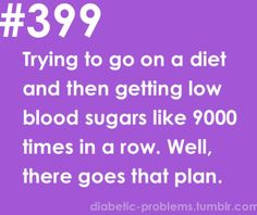 It always happens but just need to adjust my insulin dose.