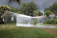 A Florida man covered his entire home including driveway and trees with aluminum foil.