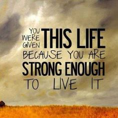 Motivational Quotes Strong Enough to Live It Life Sayings