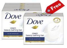 Dove Cream Beauty Bathing Soap Bar for free : Dove Cream Beauty Bathing Soap at Rs 1 - Best Online Offer
