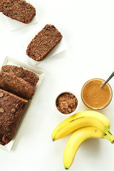 Vegan Chocolate Banana Peanut Butter Snack Bread! #vegan #glutenfree