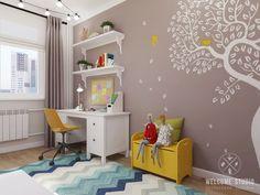 Четырёхкомнатная квартира в Москве «Scandinavian Breath». Детская