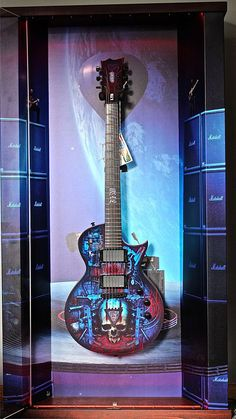 """Wall guitar display """"Concert For The Aliens"""" and LTD Special"""