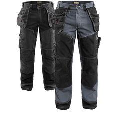 Scruffs Trade Flex Work Trousers Black Various Sizes Slim Stretch Fit B3