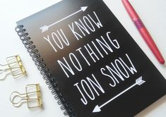 "This spiral notebook: | Community Post: 20 Perfect Gifts Every ""Game Of Thrones"" Fan Needs In Their Life"