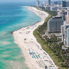 Sun sea and Miami Beach - all we can think about! #FridayFeeling by @kevinmontello with @southbeachhelicopters