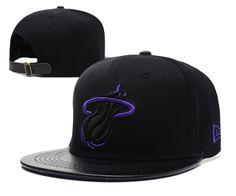 NBA Miami Heat Strapback New Era 9FIFTY Hats Black Purple 489 8ad512bf855