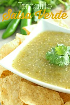 Tomatillo Salsa Verde from SixSistersStuff.com. A delicious, fresh salsa - perfect for summer!