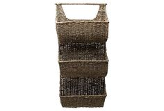 3-Part Sea Grass Wall Basket on OneKingsLane.com