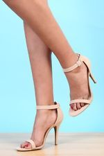 New Anne Michelle Womens Sexy High Heels Strappy Sandals Nude Color