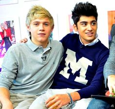 Niall and Zayn from One Direction