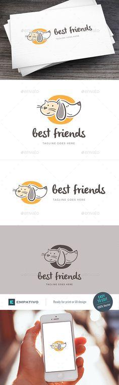 Best Friend Logo Template - Animals Logo Templates Download here : https://graphicriver.net/item/best-friend-logo-template/19407000?s_rank=86&ref=Al-fatih
