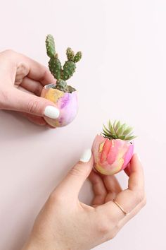 To make with the kids! -DIY Easter Cactus Eggs. By Baba Souk