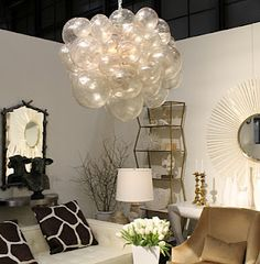 Fun! Awesome light fixture for my Ella Bella