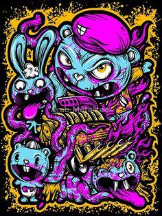 Happy Tree Family by Crab-Metalitees Graffiti Drawing, Graffiti Art, Art Drawings, Happy Tree Friends, Arte Horror, Horror Art, Desenho New School, Vexx Art, Graffiti Characters