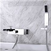 Bathroom Wall Mounted Faucet Bath Tub Mixer Tap With Hand Shower Head Shower Faucet hot and cold spout brass mixer torneira Bathroom Shower Faucets, Bathroom Fixtures, Bathroom Wall, Bathtub Faucets, Bath Tub, Contemporary Bathtubs, Wall Mount Tub Faucet, Glass Waterfall, Shower Valve
