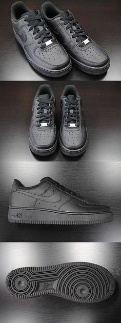 sports shoes 2e9d2 d5c9a Unisex Shoes 155202   314192 009  Kid S Gs New Nike Air Force 1 Low All  Black Grade School Youth Bk2 -  BUY IT NOW ONLY   70 on eBay!