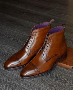 Carmina - Cap Toe Boots in Cognac Shell Cordovan. http://www.amazon.com/dp/B00HWB25J4