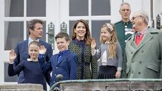 It is thought that the family had just returned from an Easter church service at Aarhus Cathedral before celebrating the Queen's birthday privately at home