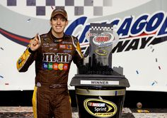 Kyle Busch wins the NASCAR Sprint Cup Series Race at Chicagoland Speedway in 2008!