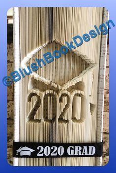 Graduation 2020 Book Folding Art Pattern by BlushBookDesign on Etsy Unique Wedding Gifts, Unique Gifts, Hearts And Roses, Book Folding Patterns, Folded Book Art, Any Book, Star Patterns, Pattern Art, New Books