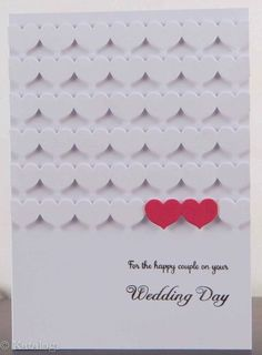 Love the pops of red hearts on this mostly white, clean and classic handmade wedding card. Scrapbooking, Scrapbook Cards, Love Cards, Diy Cards, Card Making Inspiration, Making Ideas, Wedding Shower Cards, Karten Diy, Wedding Cards Handmade
