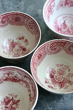 Red & white china
