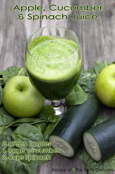 Apple, Cucumber, Spinach Juice.