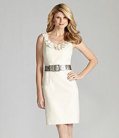 94629e7ee4 Antonio Melani Linen-Blend Belted Dress