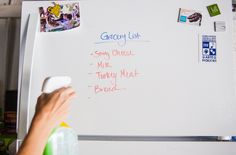 How To Clean Your Shopping List Off of Your Refrigerator.