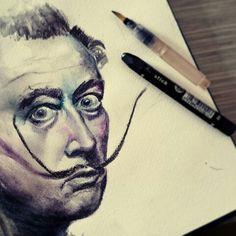 Salvador dali Watercolor and graphite on paper