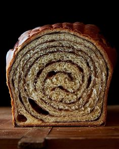 """The most appropriate time to say """"that swirl, tho."""" 🌀Get the recipe and step-by-step instructions on how to make Maida Heatter's Mile-High Cinnamon Bread at the link in our profile and at f52.co/thatswirl. 📷: @jamesransom_nyc"""