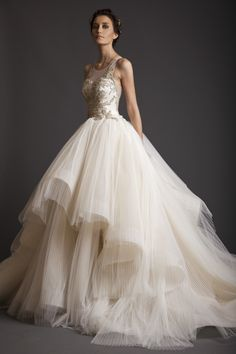 Romantic 2015 latest dress designs Irregular Special Scoop Sleeveless Ball Gown Bridal Gowns Wedding Dress 2014 vestidos