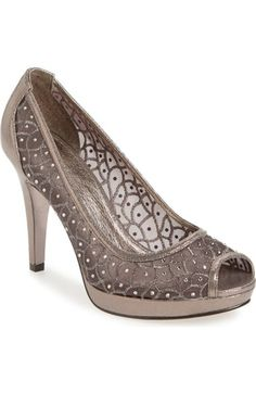 Adrianna Papell 'Foxy' Crystal Embellished Peeptoe Pump (Women) available at #Nordstrom